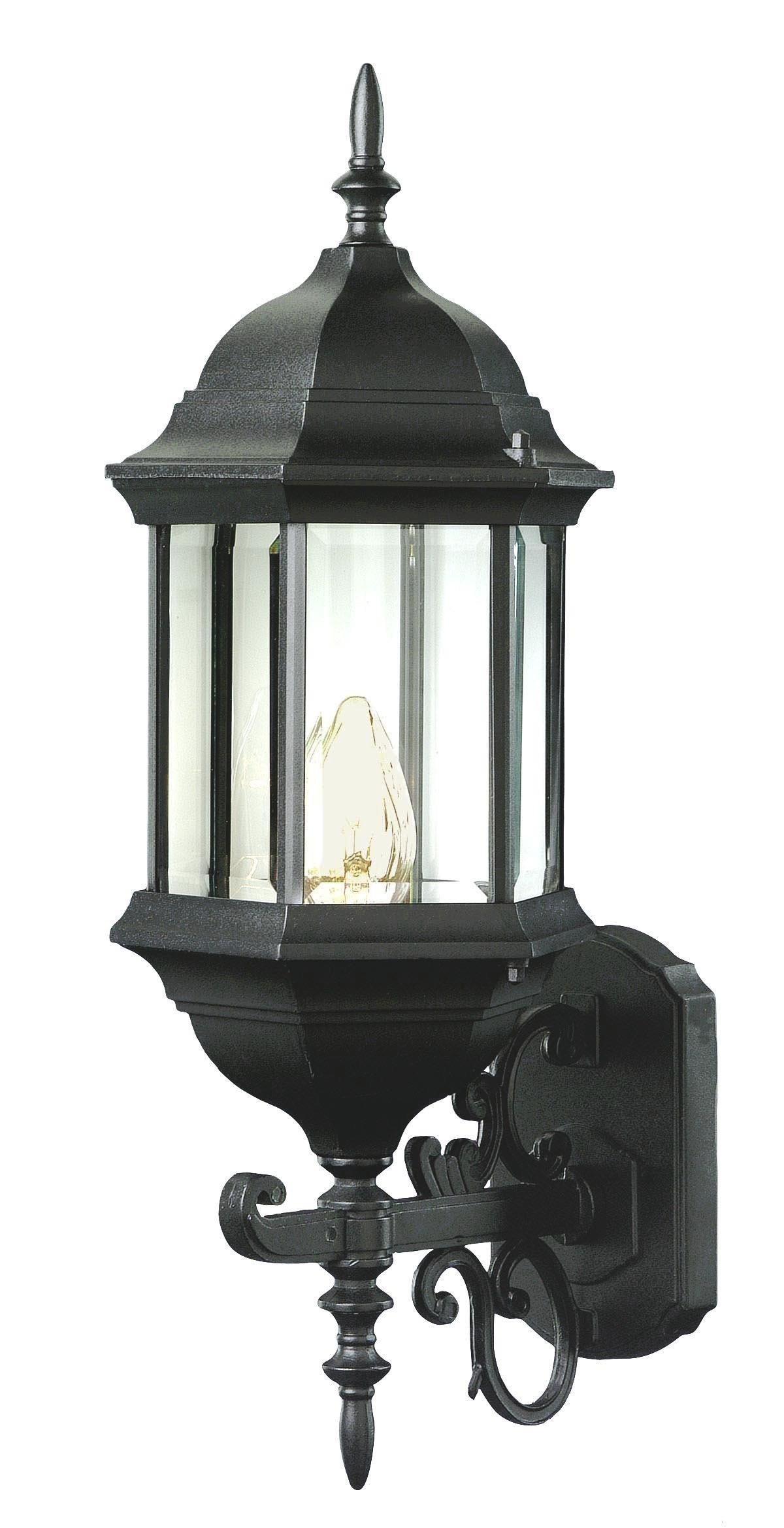 Trans Globe Lighting Trans Globe Imports 4351 BK Transitional One Light Wall Lantern from Josephine Collection in Black Finish, 9.00 inches, 26-Inch