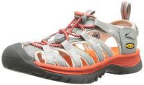 KEEN Whisper Sandals, Neutral Grey/Spicy Orange, 8.5