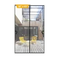 """Magnetic Screen Door 36 x 83 inch, DIXLAMN Magnet Screen Door Mosquito Door Net with Heavy Duty Fits Door Size up to 34""""x81"""" Max for Entry Door /Exterior Door /Interior Door /Kitchen Door/Patio Door"""