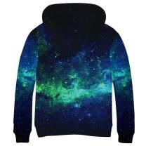 SAYM Teen Boys' Galaxy Fleece Sweatshirts Pocket Pullover Hoodies 4-16Y
