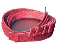 "CS Unitec 49002 PTX Fleece Nonwoven Belts, Open, Medium, Red, 26"" Long x 1.2"" Wide"