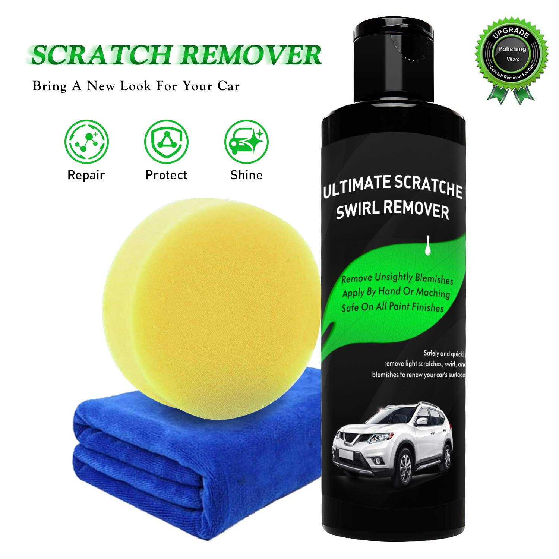 Randalfy Car Scratch Remover - Magic Car Scratch Remover, Scratch Removal for Cars with Polish & Paint Restorer Abrasive Compound, Swirl Remover, Water Spots, Light Scratch Removal for Cars