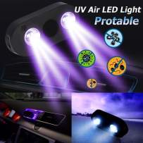 Fuguang UV Disinfection LED Lamp Portable UV-C Sanitizer Light Mobile Interior for Car Air Port Ultraviolet Sterilization Lamps for Household Office Travel - 2PACK