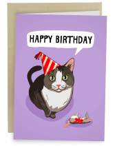 Sleazy Greetings Funny Birthday Card Cat | I Brought You A Mouse Card