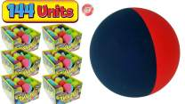 "JA-RU Super Sky HI Bounce Balls Dual Color Bouncing Ball 2.3"" (144 Units) Like Racquetball Balls Air Filled Hi Bounce Hollow Rubber Ball for Kids and Adults Therapy Massage. Party Favors 990-144p"
