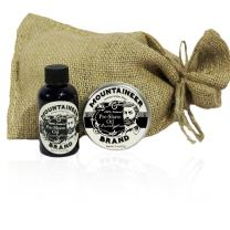 Pre-Shave Oil & Post -Shave Balm Combo by Mountaineer Brand: Soften before and Soothe after shaving (Eucalyptus)