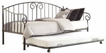 Homelegance Metal Daybed with with Trundle, Black Finish