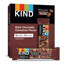 KIND Bars, Dark Chocolate Cinnamon Pecan, Gluten Free, Low Sugar, 1.4oz, 4 Count (Pack of 12)