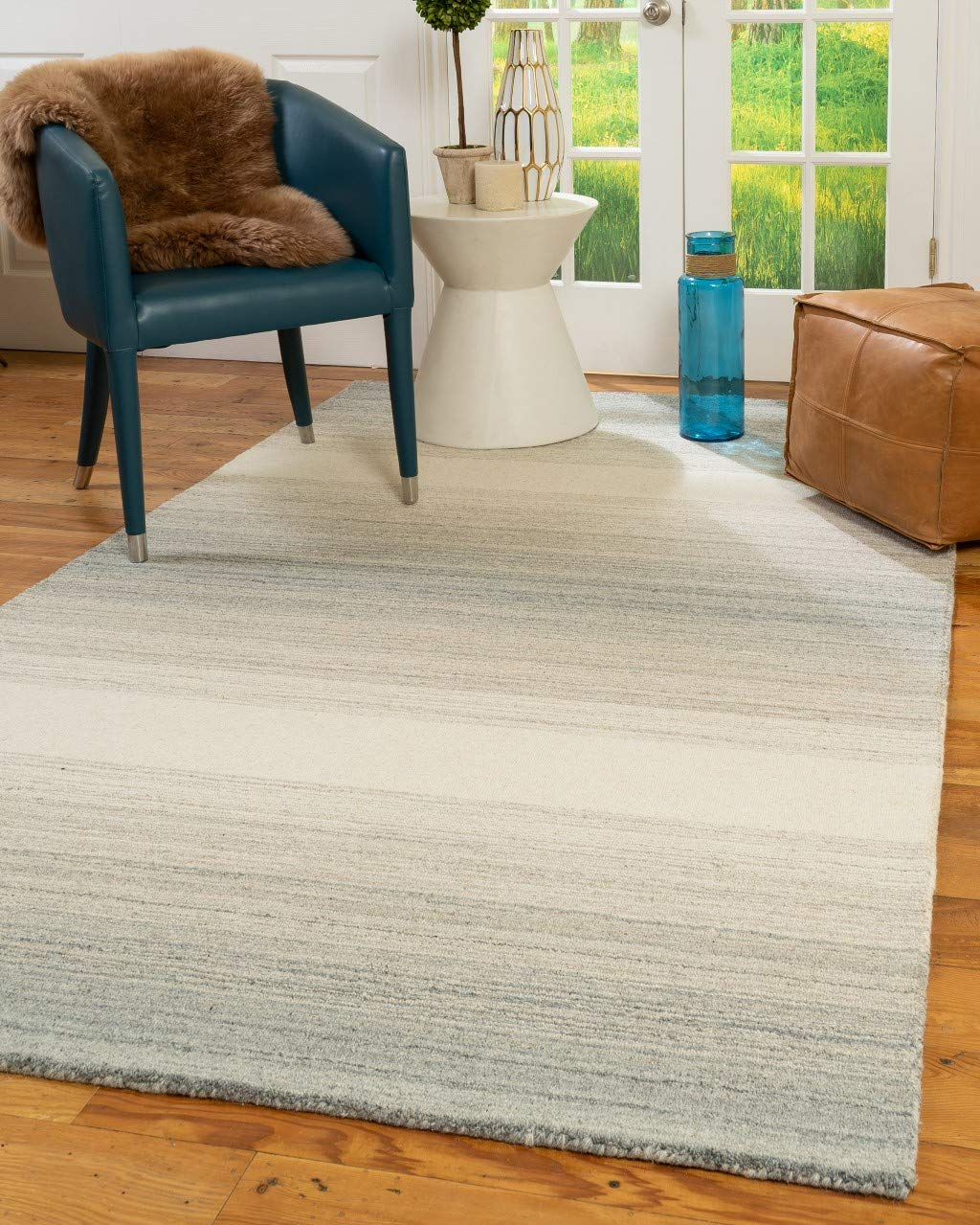 Natural Area Rugs Bronte Multi-Color Natural Hand Woven Wool Rug (9' x 12')