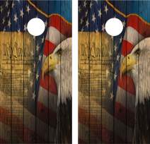 avgrafx Cornhole Wrap Decal We The People Gun Rights Weathered Wood Dk Laminated Decals Only