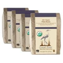 Great River Organic Milling, Whole Grain Durum Wheat, Organic, Whole Grain, 5lb (Pack of 4)