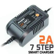Energizer 2 Amp Battery Charger and Maintainer 6 and 12V Batteries- 7 Step Smart Charging Technology to Improve Your Battery's Life Cycle for Car, RV or Boat