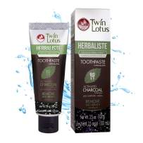 TWIN LOTUS Charcoal Toothpaste Free Sls Free Toothpaste Teeth Whitening Coconut Charcoal Powder Toothpaste Whitening Activated Charcoal Powder Teeth Whitening Vegan Eliminates Bad Breath