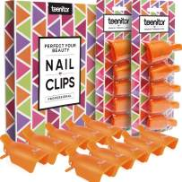 Teenitor Gel Nail Polish Remover, 20 Pieces Reusable Toenail and Finger Gel Polish Remover Tool, Best Gel Nail Polish Remover Kit- Orange