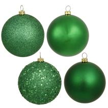 "Vickerman 6"" Green 4 Finish Ball Ornament 4 per Box"