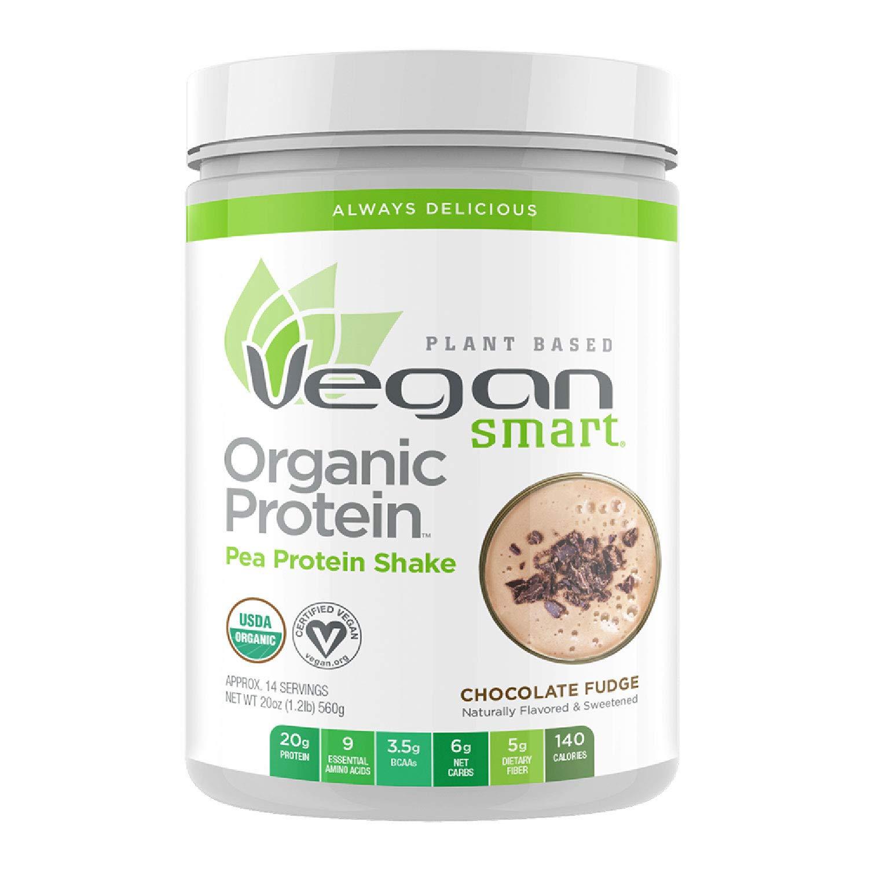 Vegansmart Plant Based Organic Pea Protein Powder by Naturade - Chocolate Fudge (14 Servings)