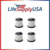 LifeSupplyUSA 4 Filters Compatible with Black & Decker PVF110 Black & Decker PVF110, PHV1210, PHV1810, fits Part # 90552433 90552433-01 -