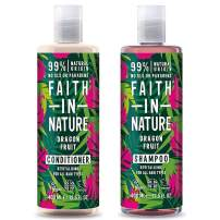 Faith In Nature Dragon Fruit Shampoo 400ml & Conditioner 400ml Duo   Vegan   Cruelty Free   99% Natural Fragrance   Free From SLS or Parabens