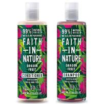 Faith In Nature Dragon Fruit Shampoo 400ml & Conditioner 400ml Duo | Vegan | Cruelty Free | 99% Natural Fragrance | Free From SLS or Parabens