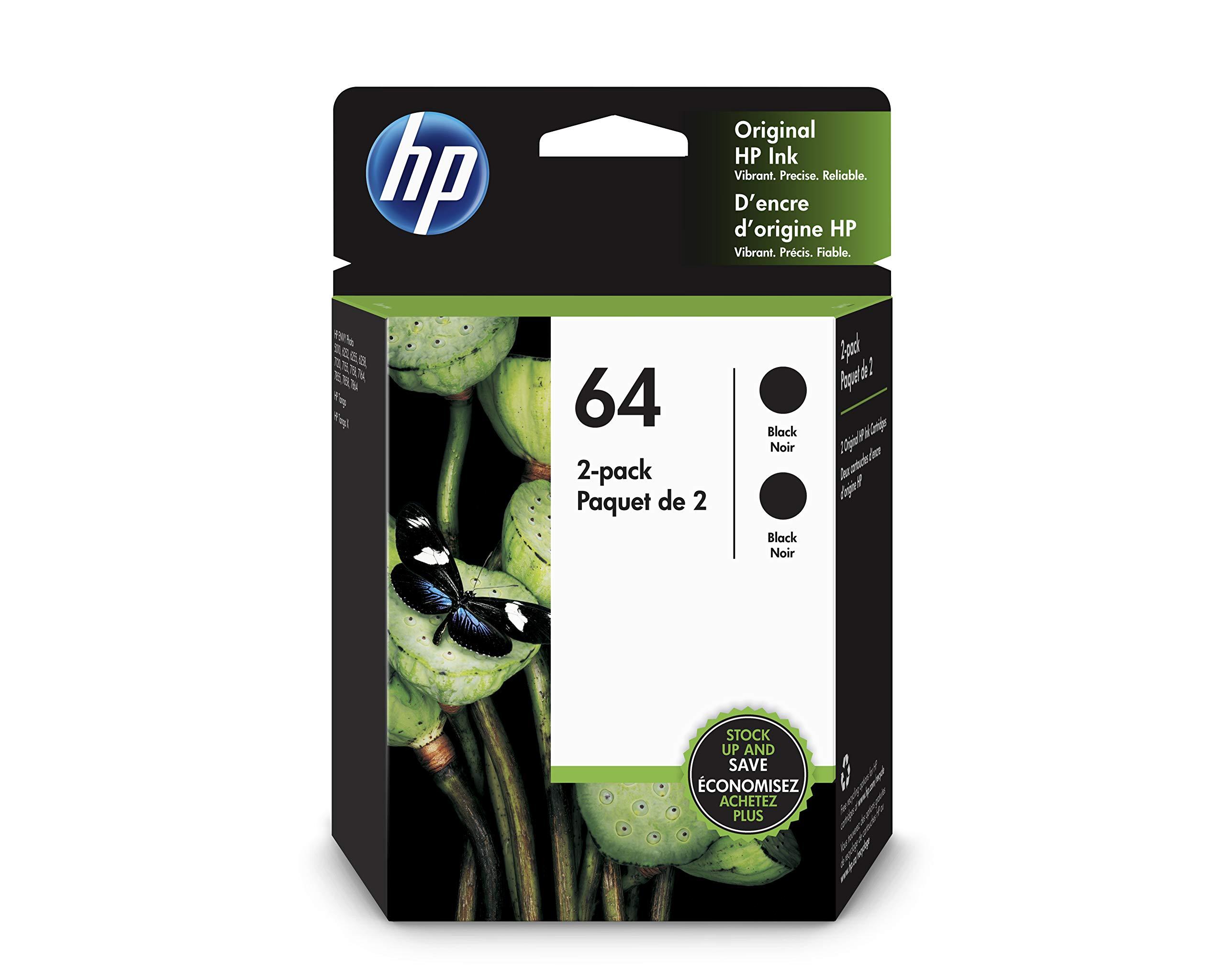 HP 64 | 2 Ink Cartridge | Black | 3YP22AN