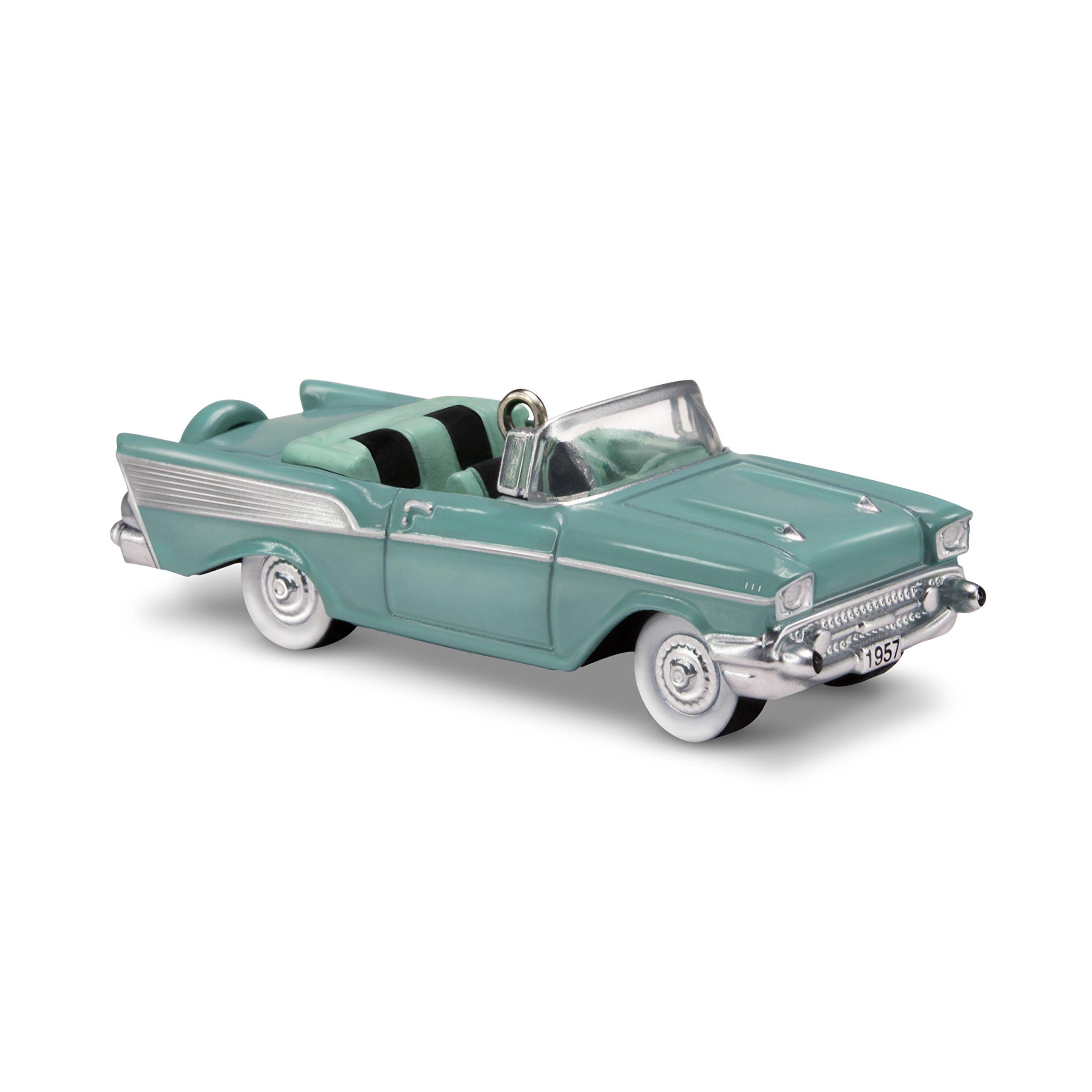 "Hallmark Keepsake Mini Ornament 2018 Year Dated, 1957 Chevrolet Bel Air Miniature , 2"""