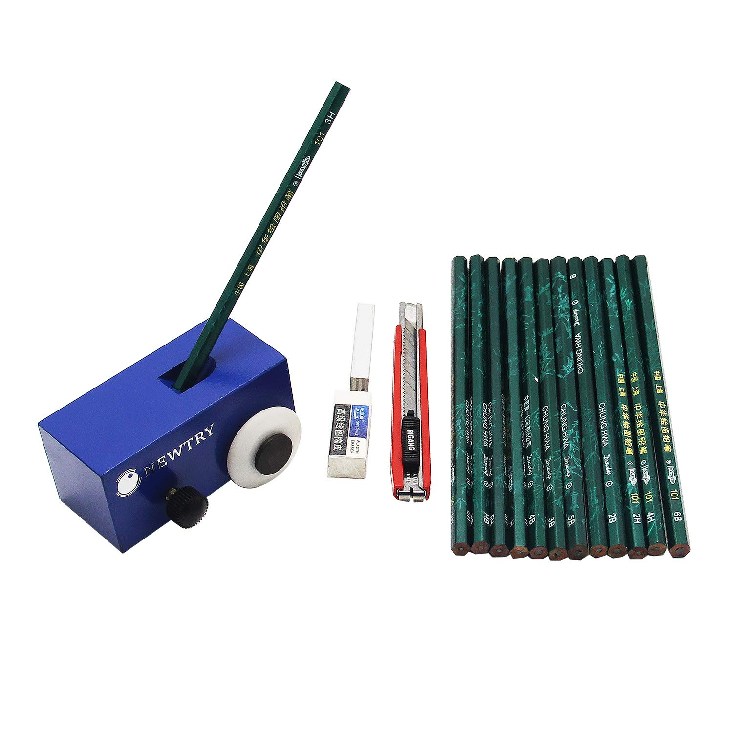 NEWTRY 500g Pencil Hardness Tester Coating Film Paint Scratch Test with 13 pcs Pencils