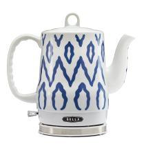 BELLA (13724) 1.2 Liter Electric Tea Kettle, Blue Aztec