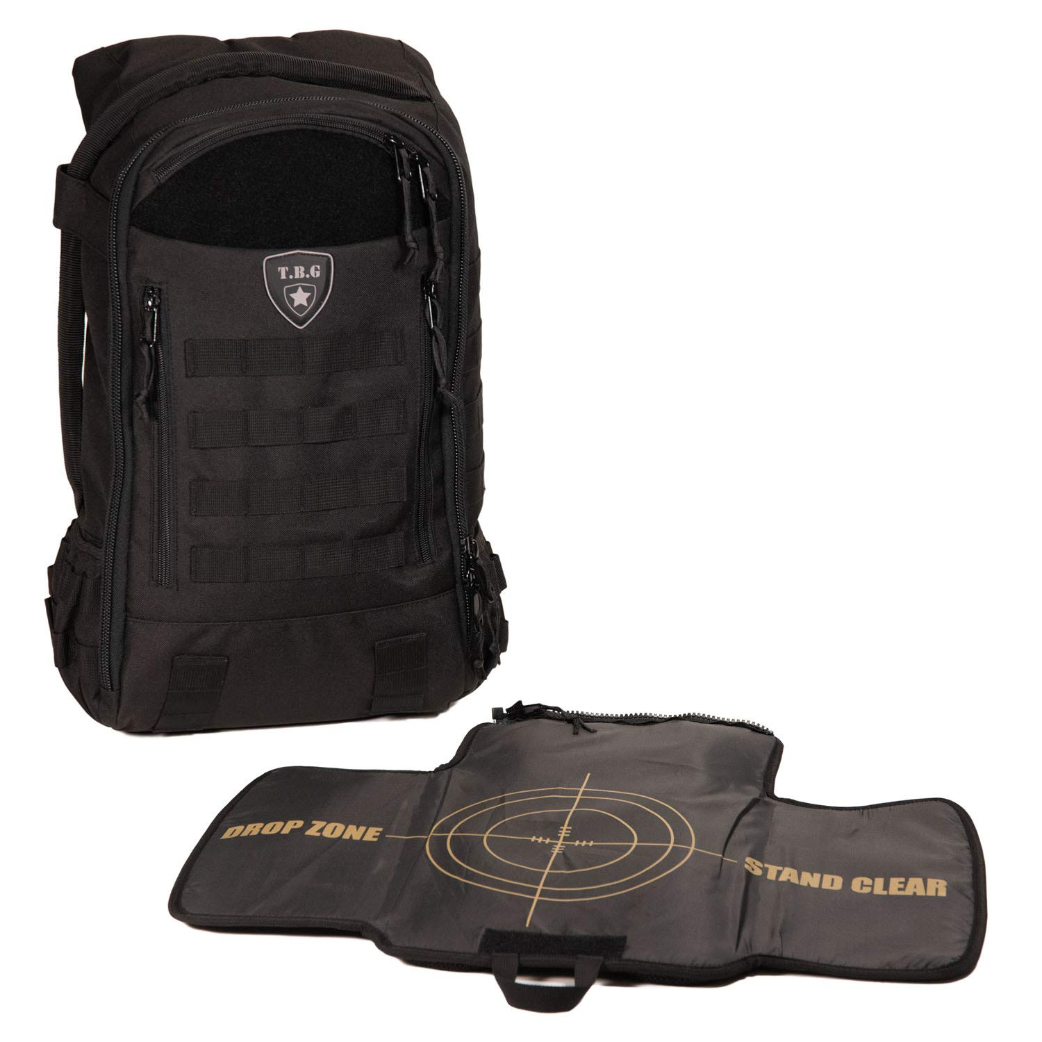 Tactical Baby Gear Daypack 3.0 Tactical Diaper Bag Backpack and Changing Mat (Black)