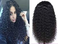 13×6 Human Hair Deep Wave Wig Pre Plucked Lace Front Wig 150 Density Pre Plucekd With Baby Hair Free Part For White Women Wet And Wavy Cheap 18 Inch Black Friday Prime