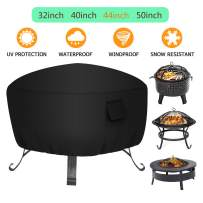 YDA 44 inch Patio Round Fire Pit Cover Weather Resistant and Waterproof Outdoor Table Cover