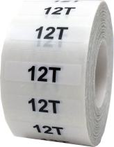 12T Baby & Toddlers Clothing Labels Size Strip Stickers for Retail Apparel 1.25 x 5 Inch 125 Adhesive Stickers