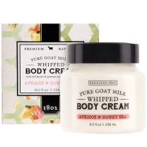 Beekman 1802 - Whipped Body Cream - Apricot Honey Tea - Goat Milk Body Butter, Daily Hydration for Dry Skin - Naturally Exfoliating Body Cream - Good for Sensitive Skin - Goat Milk Bodycare - 8 oz