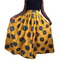 Women's High Waist Floral Midi Pencil Skirt Vintage Office Wear Bodycon Skirt