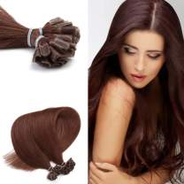 """Neitsi 20"""" 25s/lot 1g/s Rich Copper Red 100% Remy Human Hair Nail U Tip Hair Extension (33#)"""