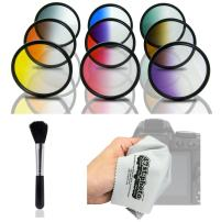 Opteka HD MC Graduated Color Filter Kit for Sony E-Mount a7r, a7s, a7, a6000, a5100, a5000, a3000, NEX-7, 6, 5T, 5N, 5R and 3N Digital Mirrorless Cameras (Fits 49mm and 58mm Threaded Lenses)