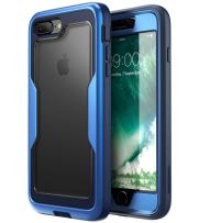 i-Blason Magma Series Case for iPhone 8 Plus 2017/iPhone 7 Plus, Heavy Duty Protection Full Body Bumper Case with Built-in Screen Protector, Includes Removable Beltclip Holster (MetallicBlue)