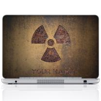 Meffort Inc Personalized Laptop Notebook Notebook Skin Sticker Cover Art Decal, Customize Your Name (14 Inch, Brown Radioactive)
