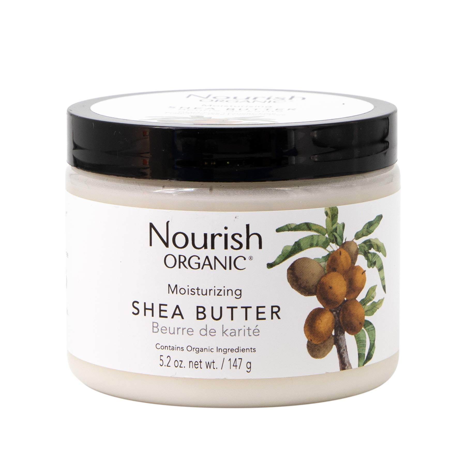 Nourish Organic Intensely Moisturizing Fair Trade Shea Butter, 5.2 Ounce (Packagin may vary)