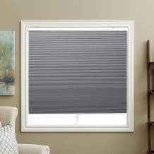 "SBARTAR Window Blinds Cellular Shades Cordless Blackout Fabric Honeycomb Blinds 34"" W x 36"" H, Cool Silver(Blackout)"
