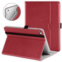DTTO iPad Mini 4 Case, Premium Leather Folio Stand Cover Case with Multi-Angle Viewing and Auto Wake-Sleep Function, Front Pocket for Apple iPad Mini 4 - Red