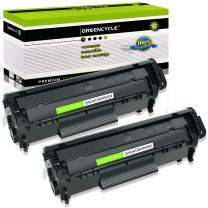 GREENCYCLE 2 PK Replacement Compatible for Canon 104 0263B001AA Black Toner Cartridge imageCLASS MF4150 MF4270 MF4350d Laser Toner Printers