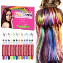 Hair Chalk, Temporary Hair Chalk Pens, Hair Chalk Set, Washable Hair Chalk, Non-toxic Washable Hair Dye, for Kids Hair Dyeing Party, Cosplay 12 PCS