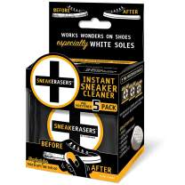 SneakERASERS Instant Sole and Sneaker Cleaner, Premium Pre-Moistened Dual-Sided Sponge for Cleaning & Whitening Shoe Soles