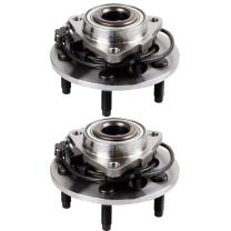 SCITOO Compatible with Both(2) 515073 New Front Wheel Hub and Bearing fit 2002 2003 2004 2005 2006 Dodge RAM 1500 Hub Breaing 5 Lugs W/ABS