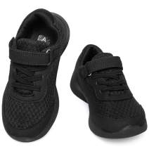 ziitop Boys Girls Sneakers Kids Running Shoes Lightweight Strap Tennis Sports Shoes Breathable Athletic Mesh Shoes for Little/Big Kids.