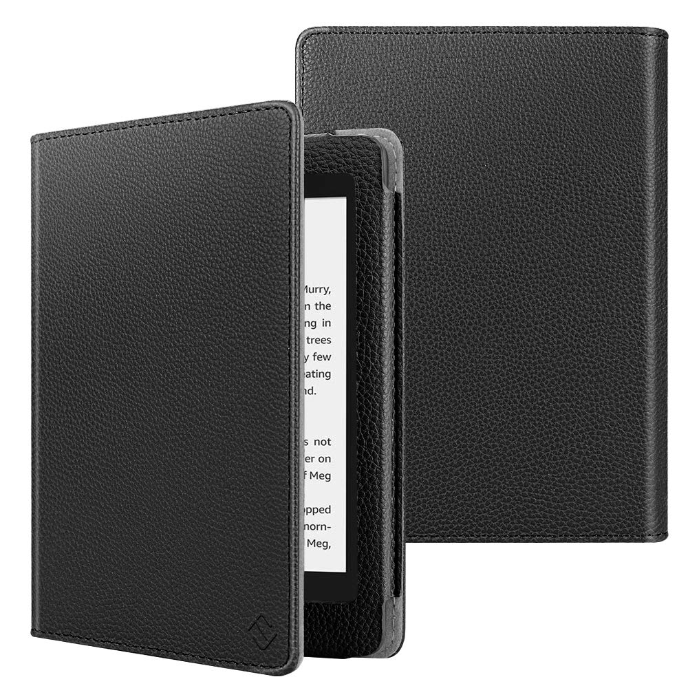 Fintie Folio Case for Kindle Paperwhite (Fits All-New 10th Generation 2018 / All Paperwhite Generations) - Book Style Vegan Leather Shockproof Cover with Auto Sleep/Wake, Black