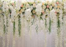 AIIKES 7x5FT Flowers Wall Backdrop Spring Floral Photography Background Wedding Bridal Photo Backdrops Baby Shower Birthday Party Decoration Photo Booth Props 11-490
