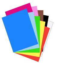 "Riverside 3D Construction Paper, 10 Assorted Colors, 18"" x 24"", 50 Sheets"