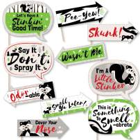 Funny Little Stinker - Woodland Skunk Baby Shower or Birthday Party Photo Booth Props Kit - 10 Piece