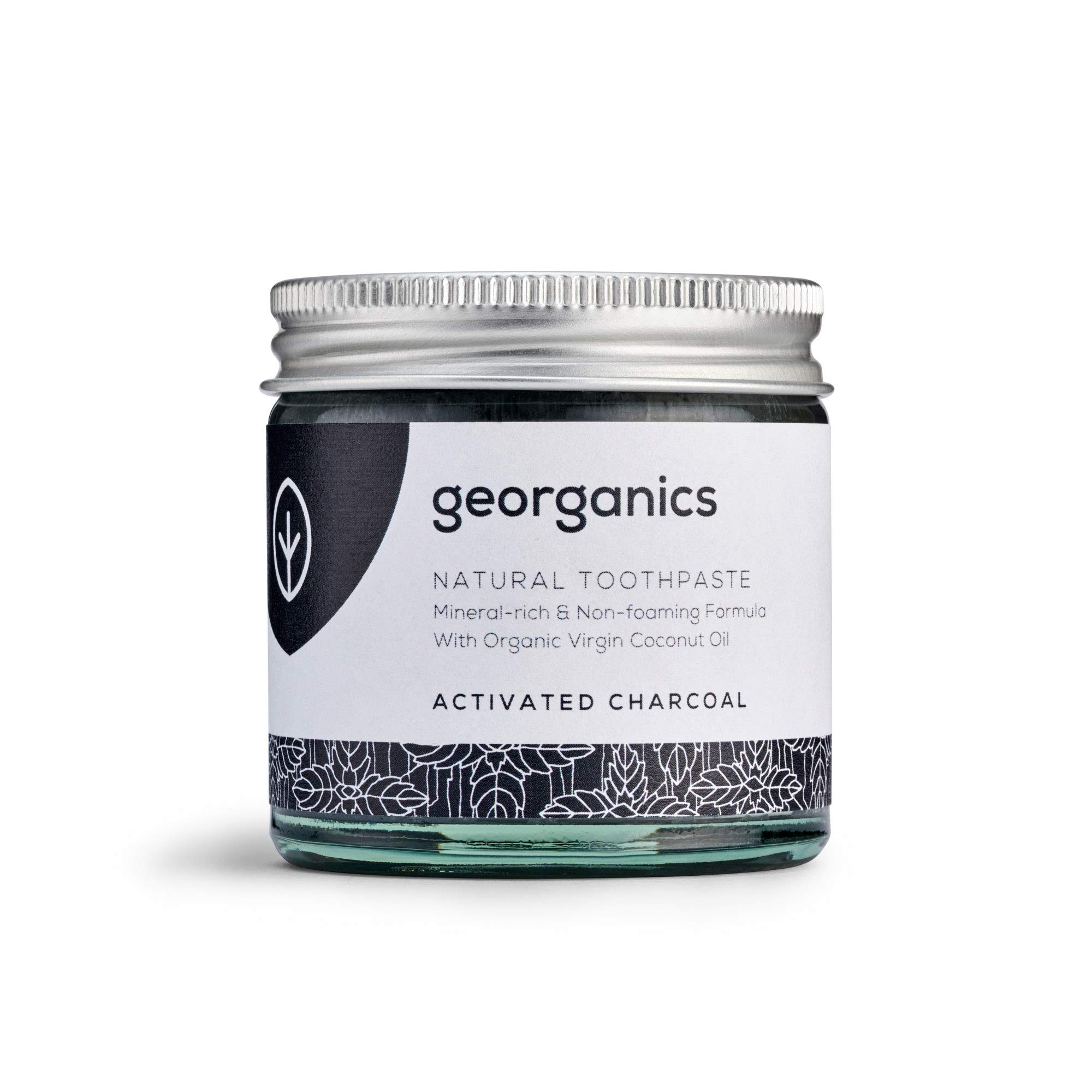 Georganics | Natural + Organic Mineral-Rich Whitening Toothpaste, Fluoride + SLS Free (Activated Charcoal, 60ml)